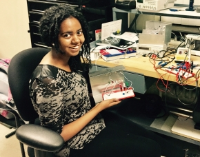 Kidan Builds Her First Circuit!