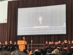 Carissa made an inspiring speech during Matriculationtoday